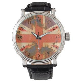 Vintage Rusted United Kingdom Flag Watch