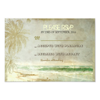 vintage rustic beach wedding RSVP cards