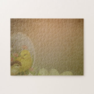 Vintage Rustic Easter Chicken Jigsaw Puzzle