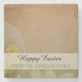Vintage Rustic Easter Chicken Stone Coaster