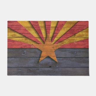 Vintage Rustic Flag of Arizona Doormat