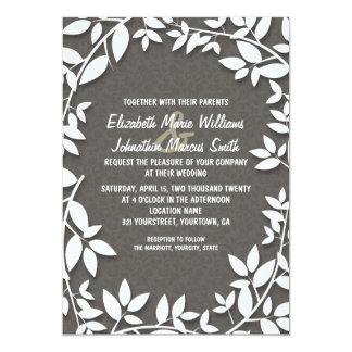Vintage Rustic Floral Invitation
