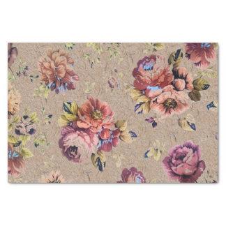 Vintage Rustic Floral Tissue Paper