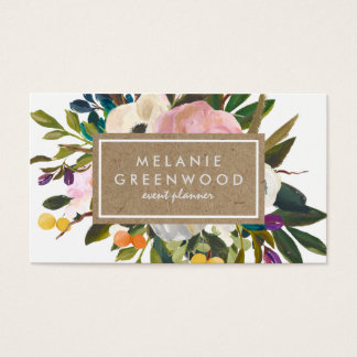 Vintage Rustic Florals Business Card