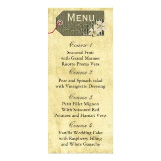 vintage rustic mason jar wedding menu rack cards