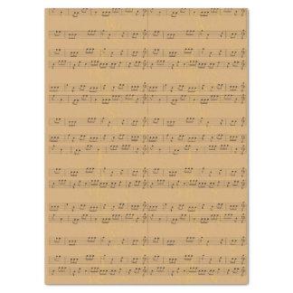 Vintage Rustic Music-Sheet Tissue Paper