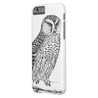 Vintage Rustic Owl iPhone Case in Hand Drawn Style