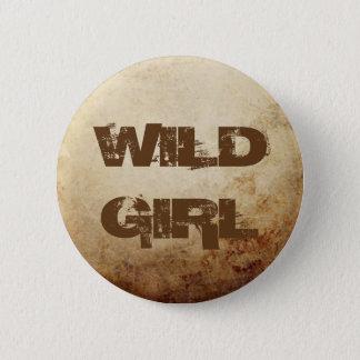 Vintage Rustic Paper Texture Rust Brown 6 Cm Round Badge