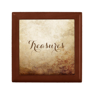 Vintage Rustic Paper Texture Rust Brown Gift Box