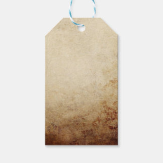 Vintage Rustic Paper Texture Rust Brown Gift Tags