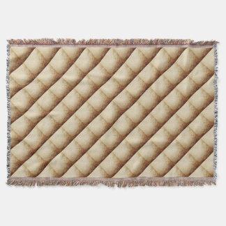 Vintage Rustic Paper Texture Rust Brown Throw Blanket