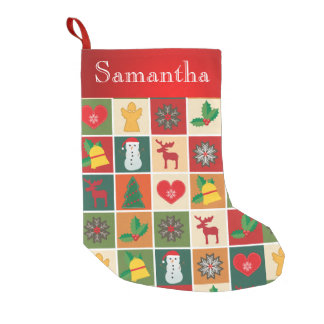 Vintage Rustic Patchwork Christmas Stocking Custom