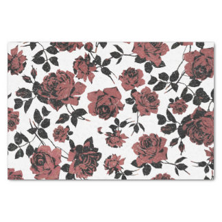 Vintage Rustic Red Roses Tissue Paper