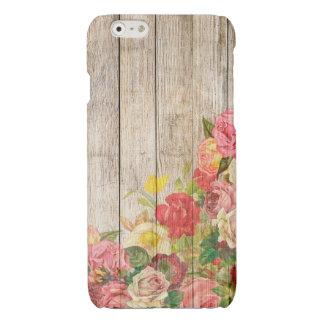 Vintage Rustic Romantic Roses Wood