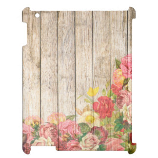 Vintage Rustic Romantic Roses Wood iPad Cases