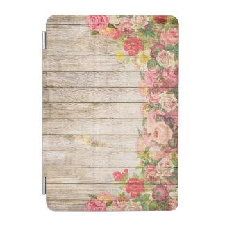 Vintage Rustic Romantic Roses Wood iPad Mini Cover
