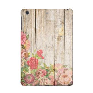 Vintage Rustic Romantic Roses Wood iPad Mini Retina Case