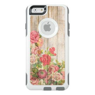 Vintage Rustic Romantic Roses Wood OtterBox iPhone 6/6s Case