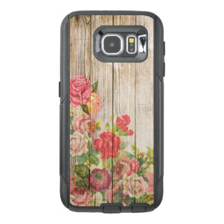 Vintage Rustic Romantic Roses Wood OtterBox Samsung Galaxy S6 Case