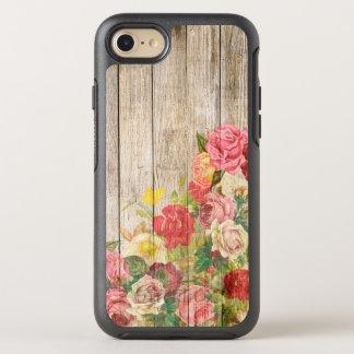 Vintage Rustic Romantic Roses Wood OtterBox Symmetry iPhone 8/7 Case