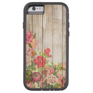 Vintage Rustic Romantic Roses Wood Tough Xtreme iPhone 6 Case
