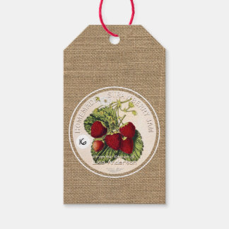 Vintage Rustic Strawberry Jam Corporate gift tag