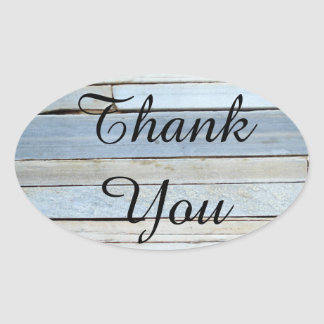 Vintage / Rustic Wood Panel Thank You Stickers