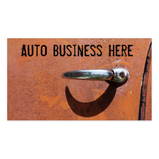 Vintage Rusty Orange Truck Salvage Parts Pack Of Standard Business Cards
