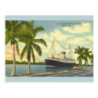 Vintage S.S. Florida Havana Bound Ship Postcard