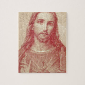 Vintage Sacred Heart of Jesus Jigsaw Puzzle