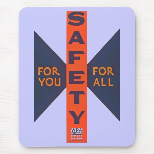 Vintage Safety For You Mouse Pads