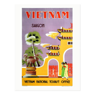 Vintage Saigon Vietnam Travel Postcard