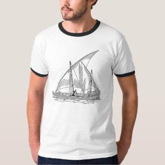 Vintage Sailboat Illustration T-Shirt