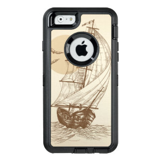 Vintage sailboat OtterBox defender iPhone case