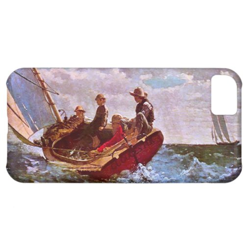 Vintage sailing dinghy in an open sea iPhone 5C cover