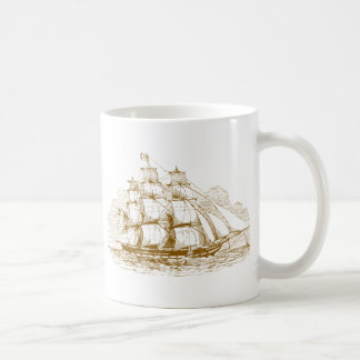Vintage Sailing Ship Coffee Mug