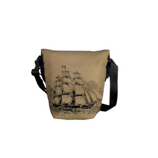 Vintage Sailing Ship Commuter Bag