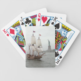 VINTAGE SAILING SHIP NEAR LIBERTY ISLAND BICYCLE PLAYING CARDS