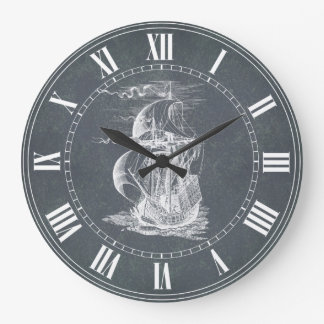 Vintage Sailing Ship Wallclocks