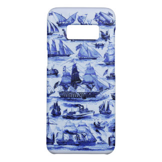 VINTAGE SAILING VESSELS AND SHIPS,Navy Blue Case-Mate Samsung Galaxy S8 Case