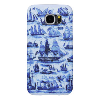 VINTAGE SAILING VESSELS AND SHIPS,Navy Blue Samsung Galaxy S6 Cases