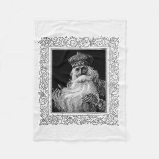 Vintage Saint Nicholas Christmas Fleece Blanket