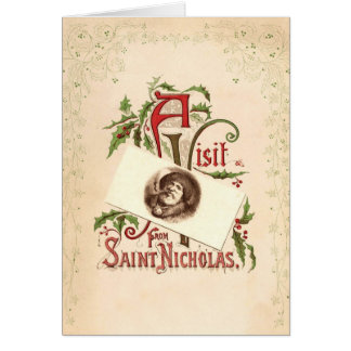 Vintage Saint Nicholas Christmas Greeting Card