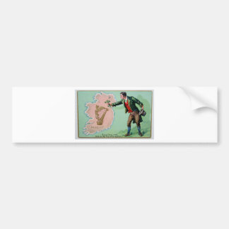 Vintage Saint Patrick's day erin's isle poster Bumper Sticker