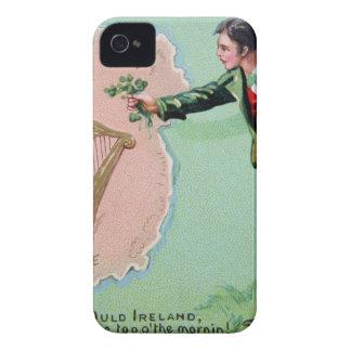 Vintage Saint Patrick's day erin's isle poster iPhone 4 Case