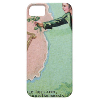 Vintage Saint Patrick's day erin's isle poster iPhone 5 Case