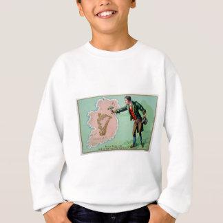 Vintage Saint Patrick's day erin's isle poster Sweatshirt