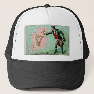 Vintage Saint Patrick's day erin's isle poster Trucker Hat