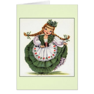 Vintage Saint Patrick's Day Note Card
