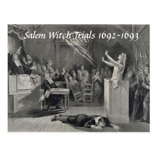 Vintage Salem Witch Trials, Salem MA Post Card
